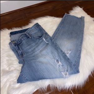 torrid Distressed Lace Ankle Jeans Size 20